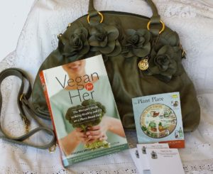win a copy of 'vegan for her' and a big buddha bag